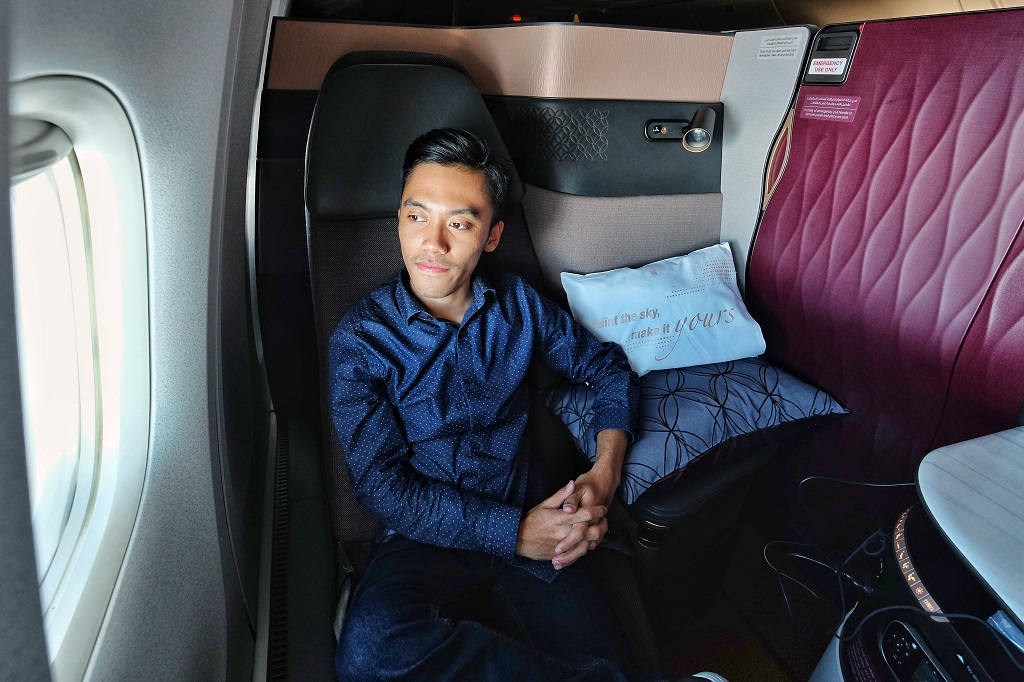 Flight Review Qatar Airways 777 300er Qsuite Business Class From Doha To Sydney Tips Untuk Mencobanya The Story Of My Life