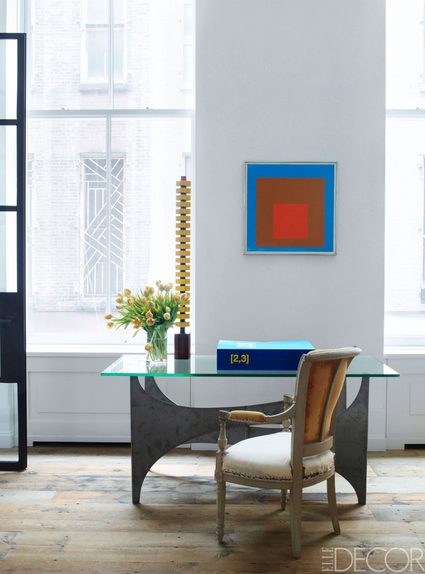 Josef Albers Painting In Kevin Roberts And Timothy Haynes Home