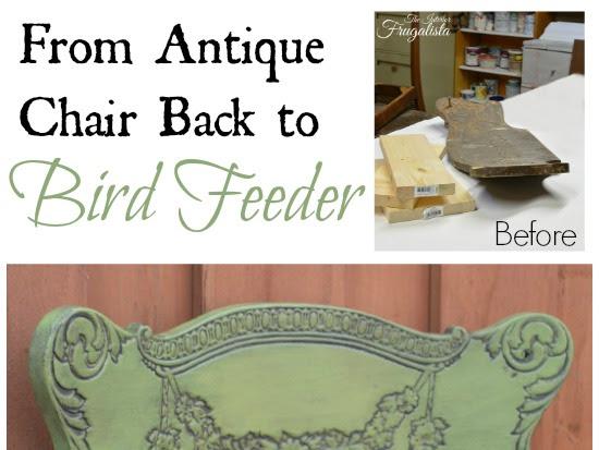Antique Chair Back Bird Feeder