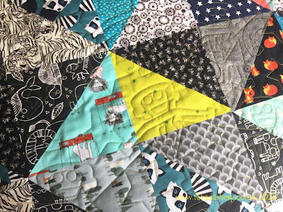 Sherry's Half Square Triangle Quilt, featuring 'Boltz'
