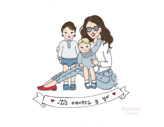 mamá y niños
