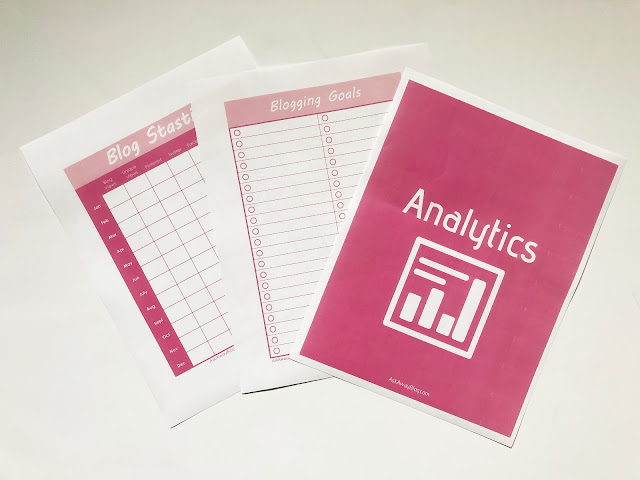 FREE Printable Blogging Binder Analytics tracker