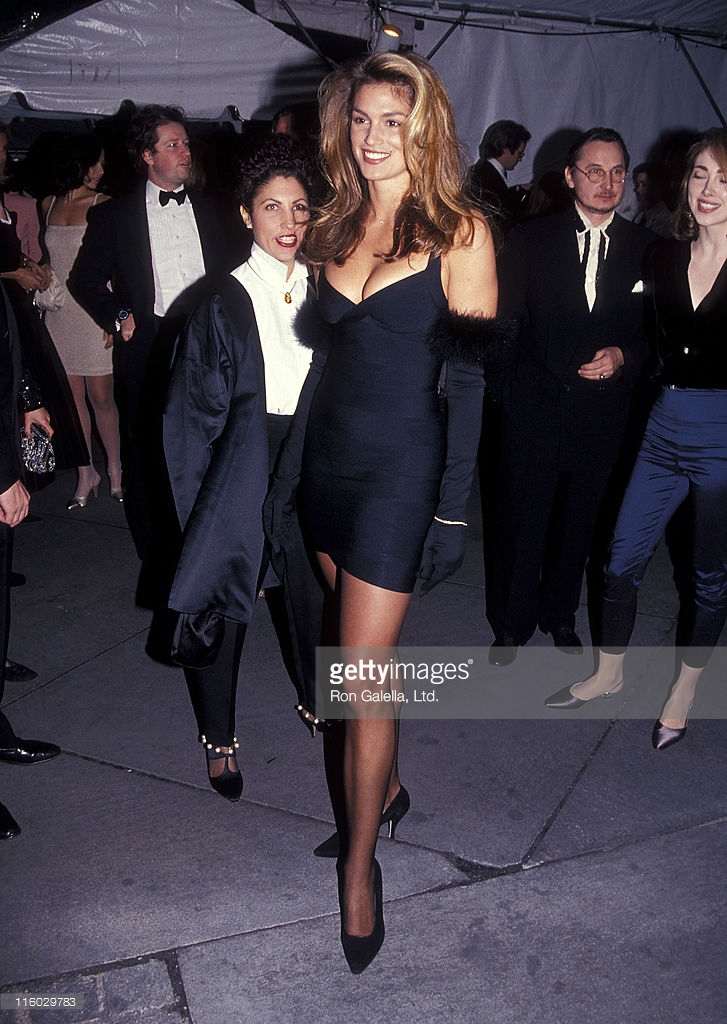 Herve Leger Sightings Cindy Crawford At The Vogue
