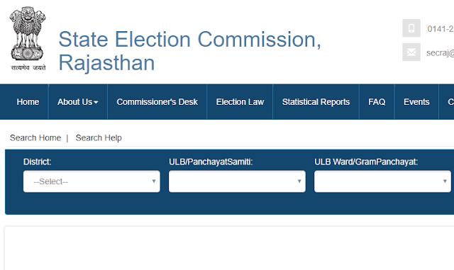 rajasthan voters list download gram panchayat samiti district