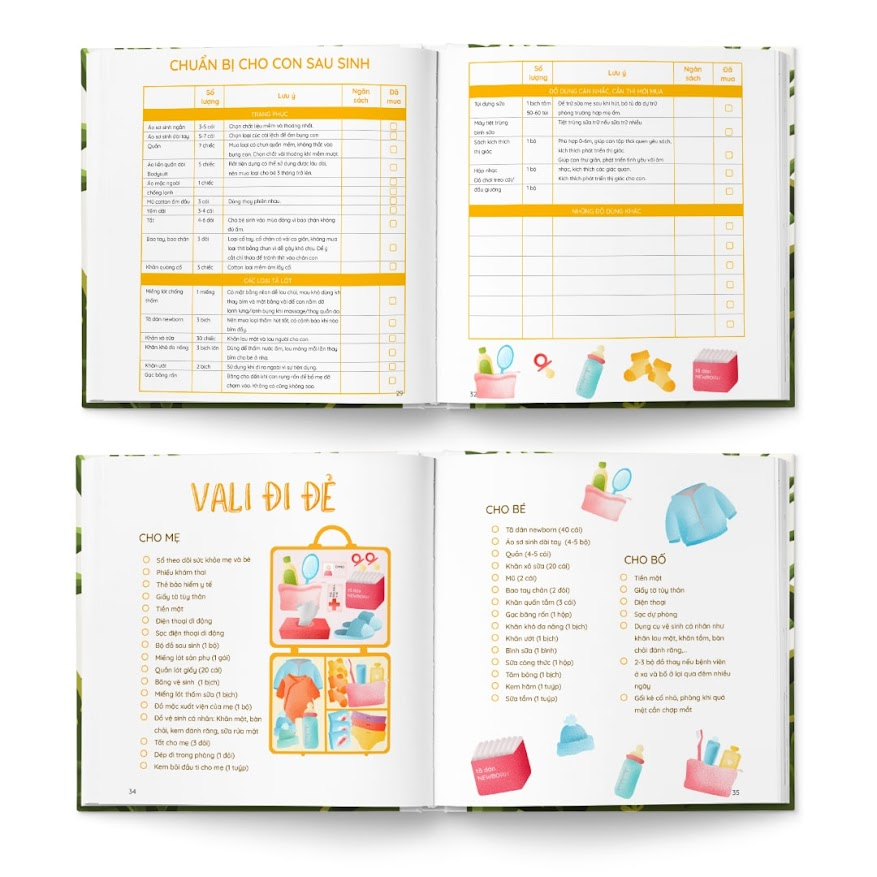 [A116] Bộ sách hoạt động tô màu cho Mẹ Bầu không thể bỏ qua
