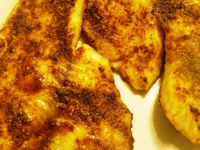 Broiled Cajun style fish fillets