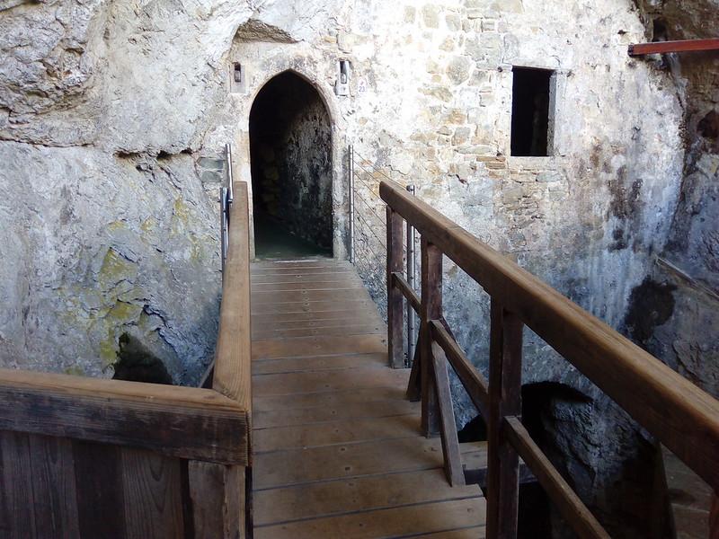 Predjama castle Slovenia inside