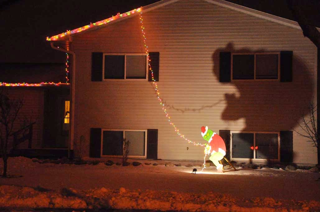 Grinch Stealing Christmas Lights.Taken For Granted Grinch Stealing Christmas