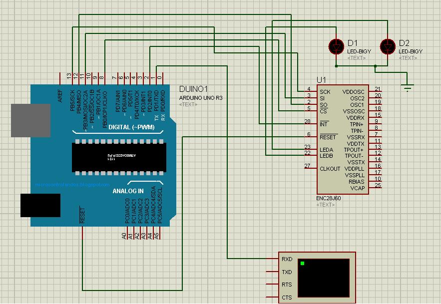Ethernet Enc28j60 Interfaced Arduino 2embeddedrobotics
