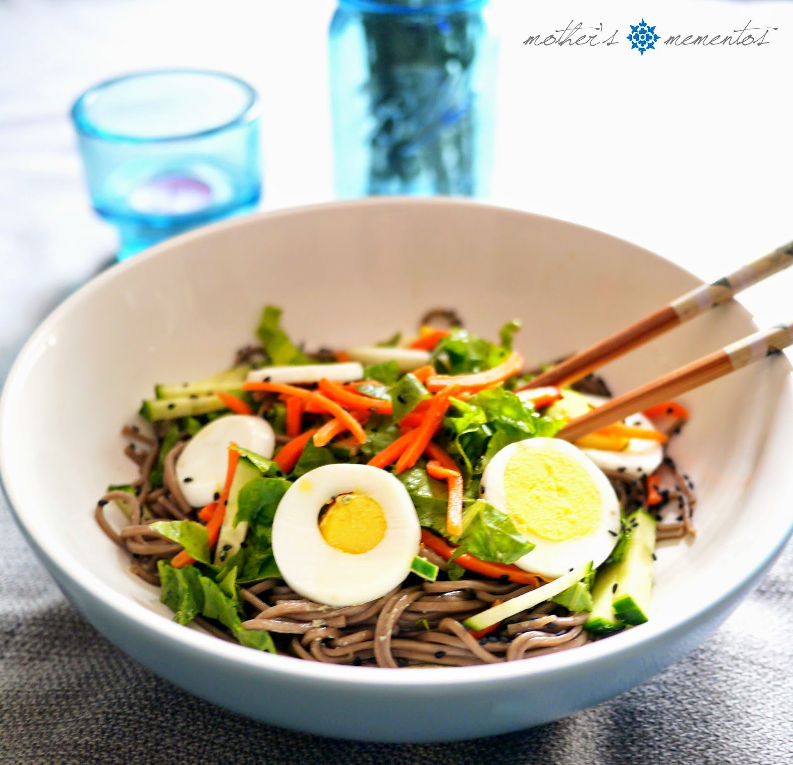 Cold Soba Noodles with Egg and Vegetables | Mother's Mementos