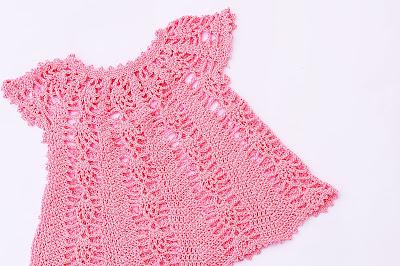 Vestido rosa a crochet y ganchillo Majovel Crochet 2