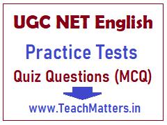 image : UGC NET English Practice Test - Quiz Questions (MCQs) @ TeachMatters
