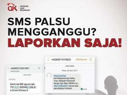 Nomor pengaduan SMS penipuan