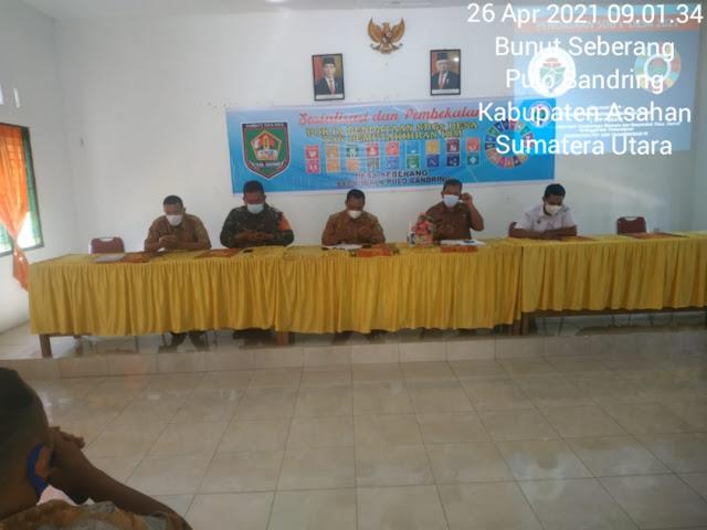 Personel Jajaran Kodim 0208/Asahan Menghadiri Acara Sosialisasi Pendataan SDGs dan Pemutakhiran IDM Diwilayah