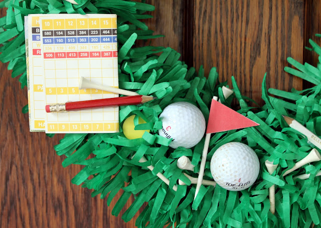 DIY Father's Day Golf Wreath Tutorial
