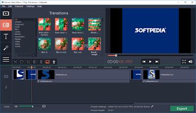 Các công cụ dùng để biên tập video movavi editor