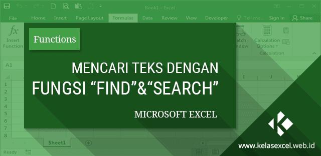 Fungsi/Rumus FIND & SEARCH, Cara Mencari Posisi Teks pada Microsoft Excel