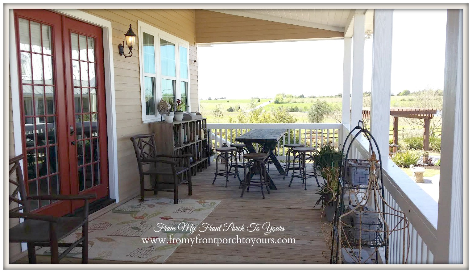 Texas Farmhouse Porch RoundTop Trendmaker Homes From My Front To Yours