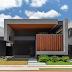Fachada de casa térrea contemporânea em tons de cinza, preto e amadeirado!