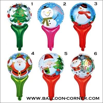 Balon Foil Raket Seri MERRY CHRISTMAS