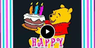 happy birthday  cartoon short Vedio clip free download
