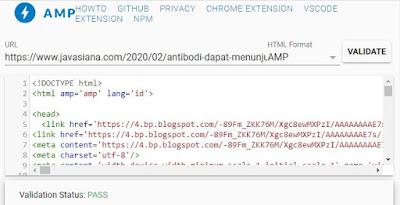 Cara Cek Blog/Website Valid AMP