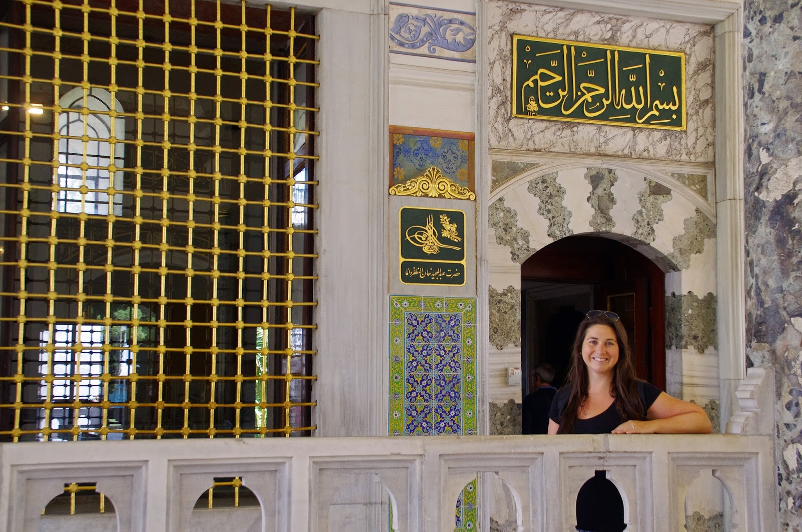 Girl at Topkapi Palace