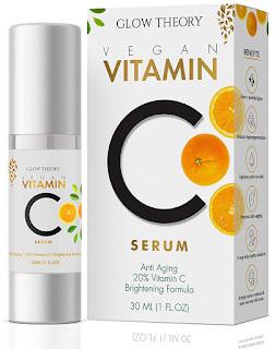 GLOW THEORY Premium Vitamin C Facial Serum for glowing skin - Anti Wrinkle & Anti Ageing with Skin Brightening Formula - 30 ML
