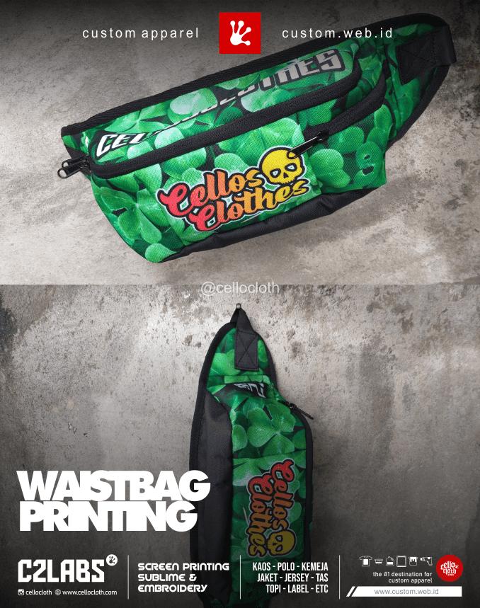 Waitbag Full Printing Cordura Material Custom - Konveksi Tas Jogja