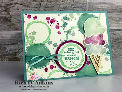 Check out my card using the Sweet Ice Cream, In Your Words, and Textures & Frames Stamp Sets.