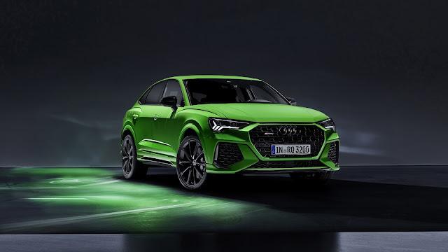 Audi Green Sports Car 2020 Wallpaper