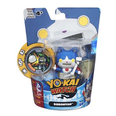 TOYS : JUGUETES - YO-KAI WATCH  Robonyan : Medal Moments  Figura - Muñeco + Medalla  Hasbro B7582 | Serie Televisión - Videojuego 2016 | Edad:+4  Comprar en Amazon España & buy Amazon USA