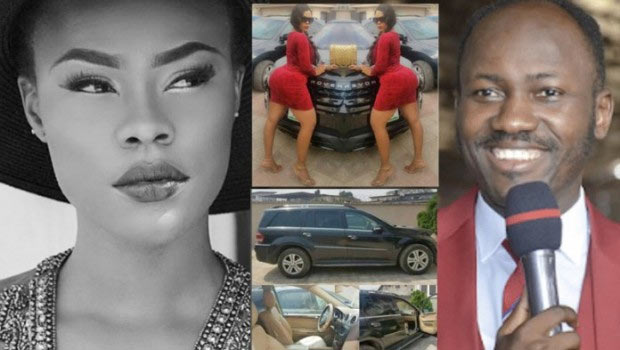 Photos of Apostle Suleman's car wiped off Daniella Okeke's IG, car registration deleted from LASG website
