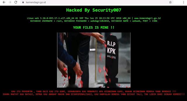 Website Kemendagri Kena Hack Untuk Beri Dukungan KPK