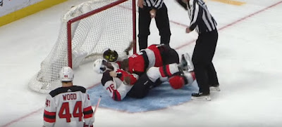 subban tkachuk fight