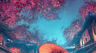 Japanese Street Scenery mobile wallpaper