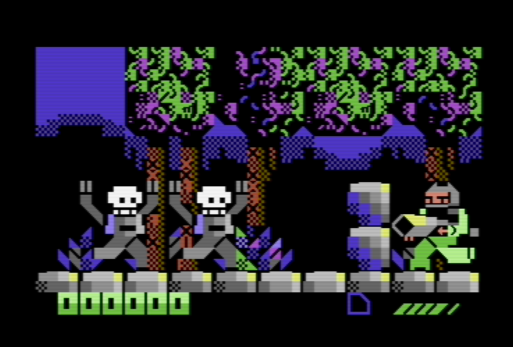 Old Machinery: Digiloi: Action game with C64 default characters