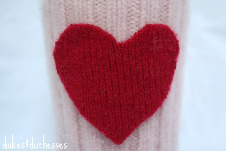 This cure homemade Valentine's Day cuff is a perfect gift for that coffee or tea lover in your life