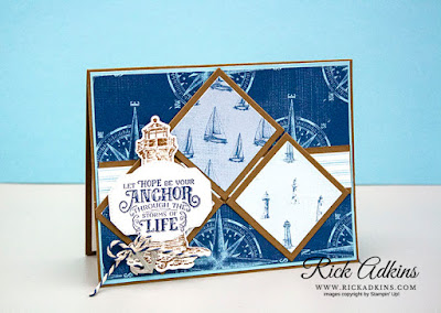 Sailing Home Stamp Set, Come Sail Away Designer Series Paper, The Spot Sketch Challenge #105, Rick Adkins, Stampin' Up!