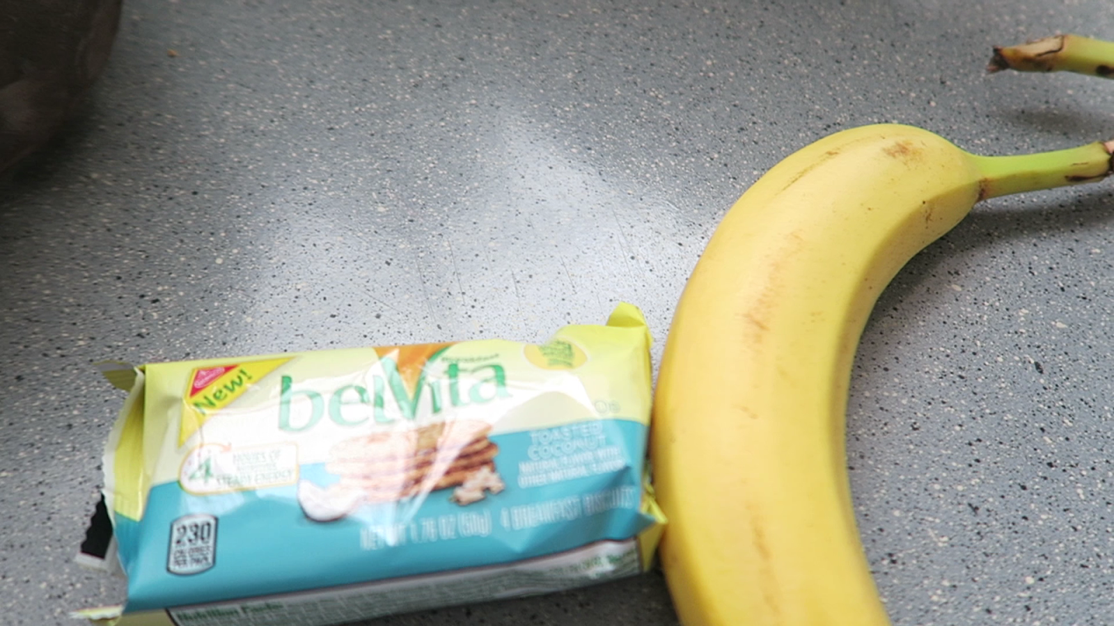 Image: Belvita and banana on kitchen counter ...Being Forty-Something