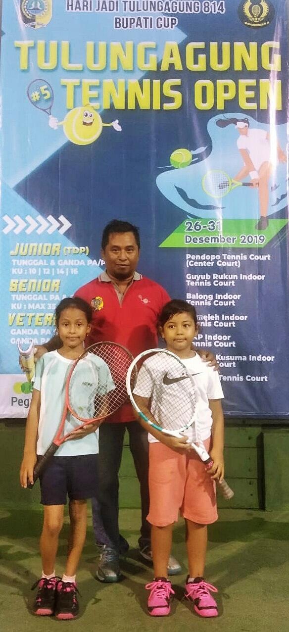 Harumkan Tuan Rumah, si Cantik Kirana Borong Gelar Juara Kejurnas Tenis Piala Bupati Tulungagung 2019
