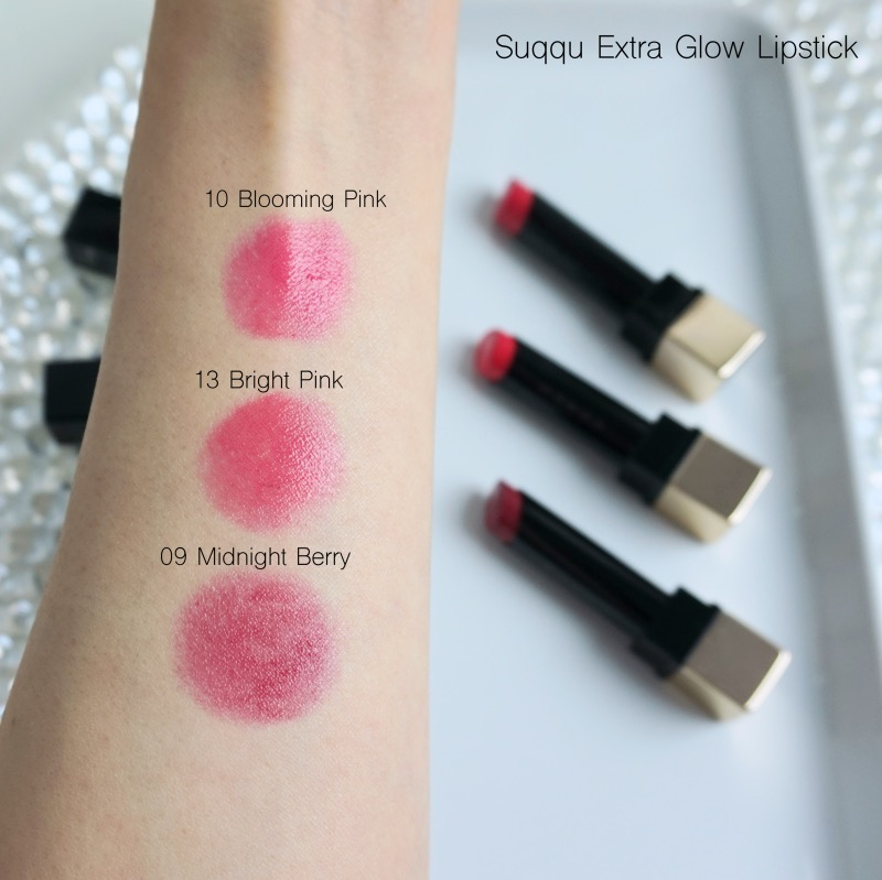 Suqqu Extra Glow Lipstick review swatches