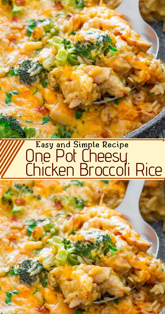 One Pot Cheesy Chicken Broccoli Rice #dinnerrecipe #food #amazingrecipe #easyrecipe