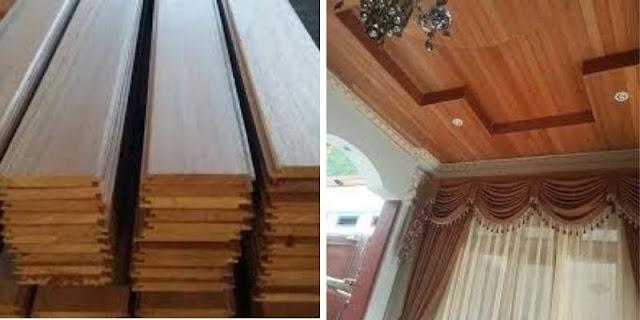 plafon kayu ulin