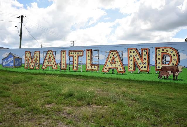 Welcome to Maitland mural   Trevor Dickinson