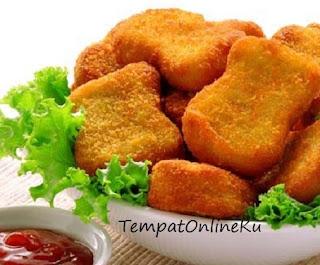 nugget kentang keju dengan sayuran