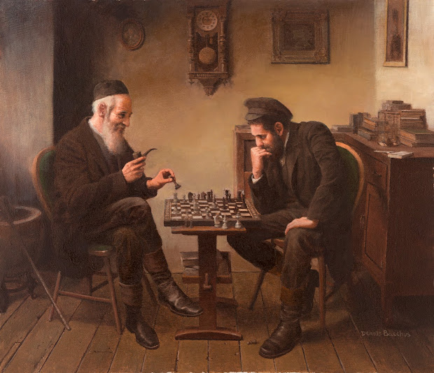 Chess Players Painting