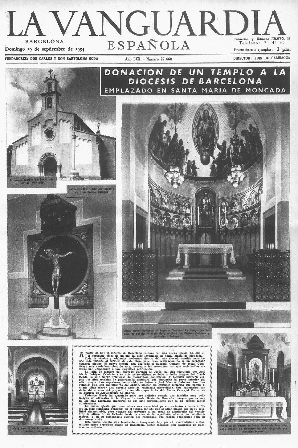 Montcada I Reixac 1954 Esglèsia De Sta Maria De Montcada
