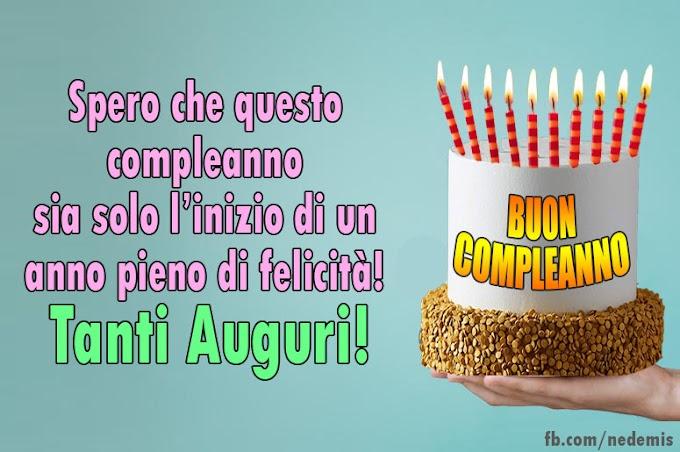 Festa di compleanno con torta - Buon Compleanno