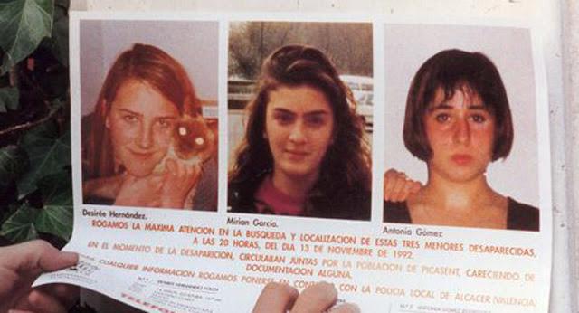 Miriam , Toñi y Desiree, las niñas de Alcàsser